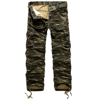 Fashion Brand Clothing Mens Multi Pocket Trousers Loose Cotton Army Military Camouflage Camo Uniform Pants Cargo Pant For Men