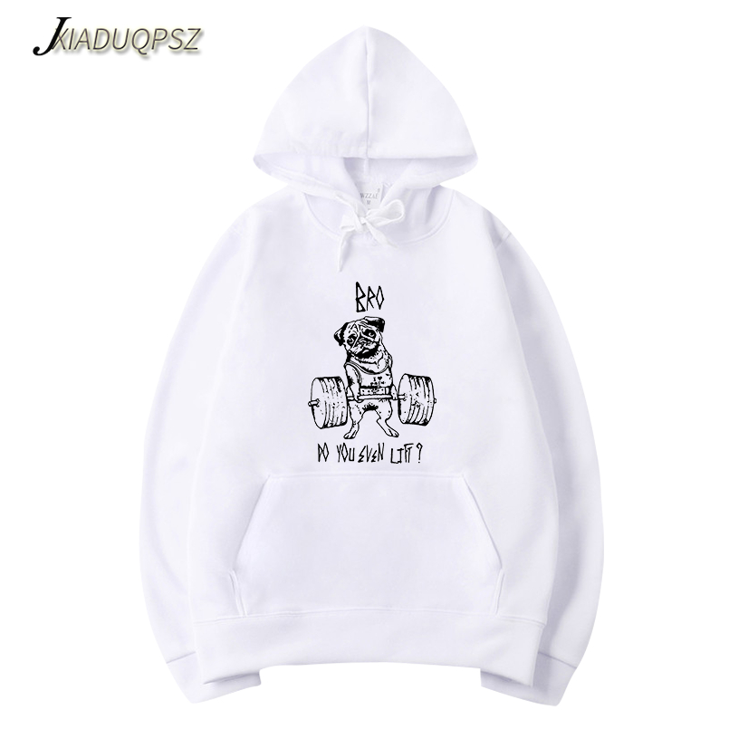Men's Clothing Men Hoodies Pink Autumn New Weightlifting Dog Printing Cotton Casual Sweatshirts Men/women Hoodies Sweatshirts 2019 To Be Distributed All Over The World
