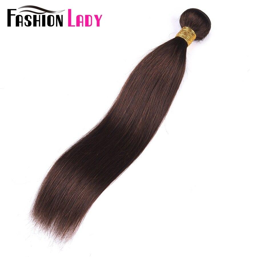 FASHION LADY Pre-Colored #2 Dark Brown Bundles Human Hair Peruvian Hair Straight Hair Bundles 1/3/4 Bundle Per Pack Non-Remy