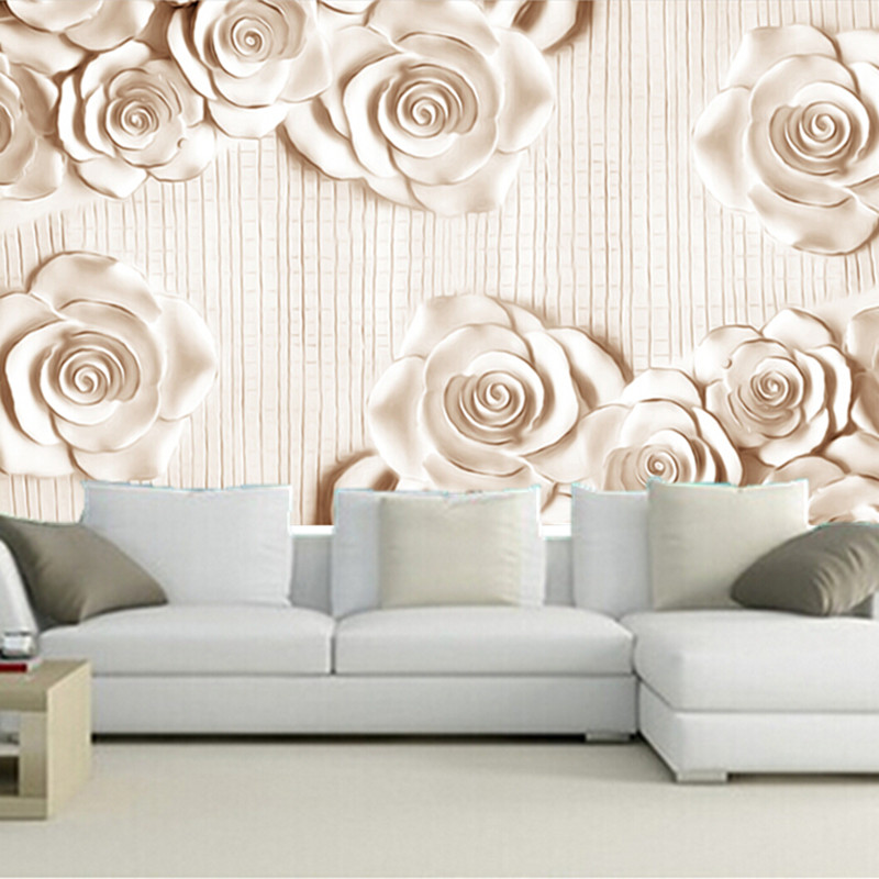 Custom 3D large mural, 3D simple stereo wallpaper, jade flowers papel de parede,living room sofa TV wall  bedroom wall paper недорого