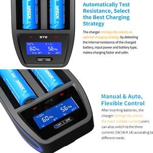 Image 4 - XTAR ST2 고속 LCD 충전기 30min 완전 충전 유형 C USB 충전 적용 3.6v/3.7v 22650 26650 20700 21700 18650 배터리 충전기