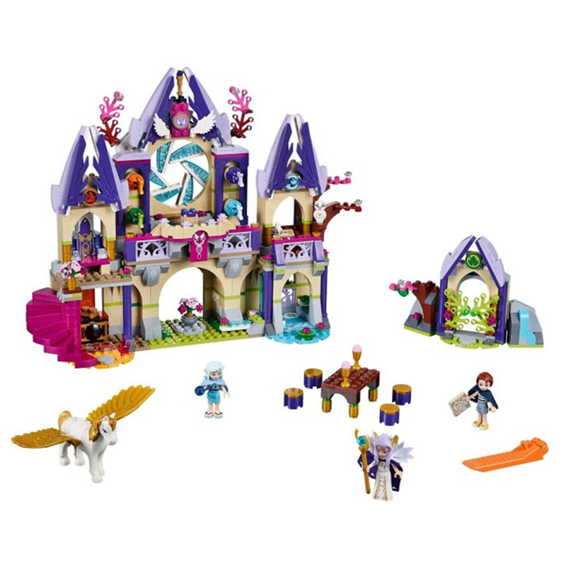 ФОТО 809pcs Toy 10415 friends Elves series Skyra's Mysterious Sky Castle Building Kit Bricks Elves toys for Children
