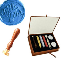 Squid Octopus Custom Picture Logo Wedding Wax Seal Stamp Sticks Box Set Kit Vintage