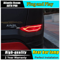 car styling For Hyundai Tuscon 2015 2018 LED Rear bar la For Tuscon High brightness guide LED Rear bar lamp