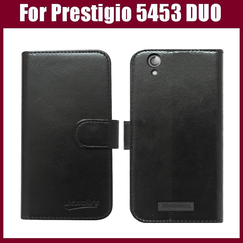 Flip Leather case Prestigio Multiphone 5453 DUO Smart Phone Wallet Case Cover . - Guangzhou Venice store