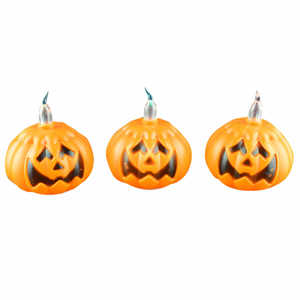 Mini Halloween LED Candle Light Skeleton Pumpkin Night Light Party Supplies New Arrival Dropshipping