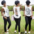 Hollow Sexy Women T Shirt Plus Size Fashion Stylish Sleeveless Summer Tee Top Cut Out Tshirts Womens Clothing