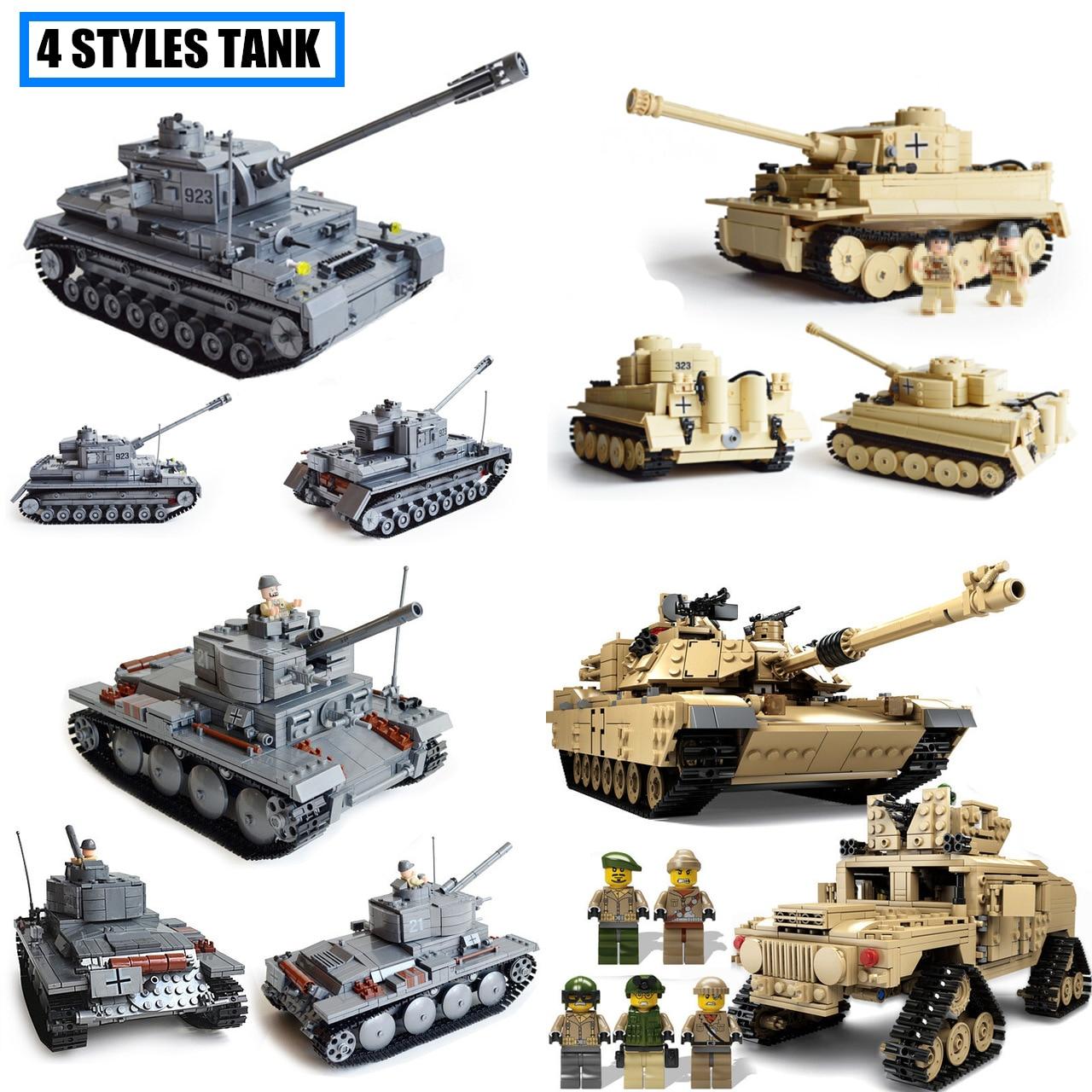 Galleria fotografica KAZI Heavy Tank Weapon Germany wars Tank fit <font><b>legoings</b></font> Military figures <font><b>technic</b></font> solider city Building Blocks bricks Toys gift kid