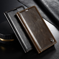 Original Huawei P8 Lite Case Luxury Genuine Leather Magnet Flip Case Cover For Huawei Ascend P8
