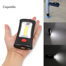 Coquimbo 2 Mode COB LED Flashlight Torch Magnetic Working Folding Hook Light Lamp Torch Linternas Multi