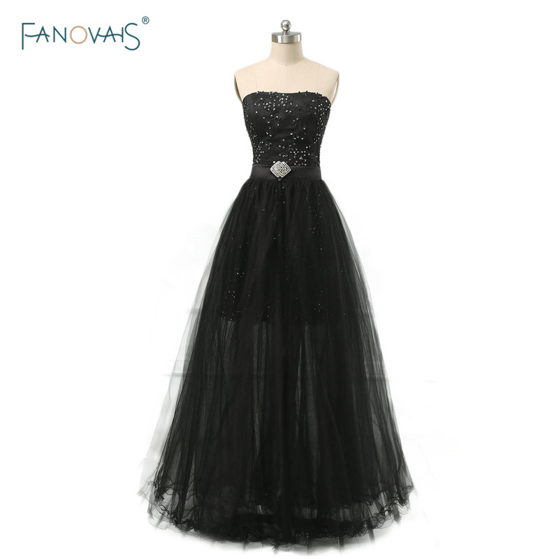 Real Photo Evening Wear Gown New Arrival Blackyellow Detachable