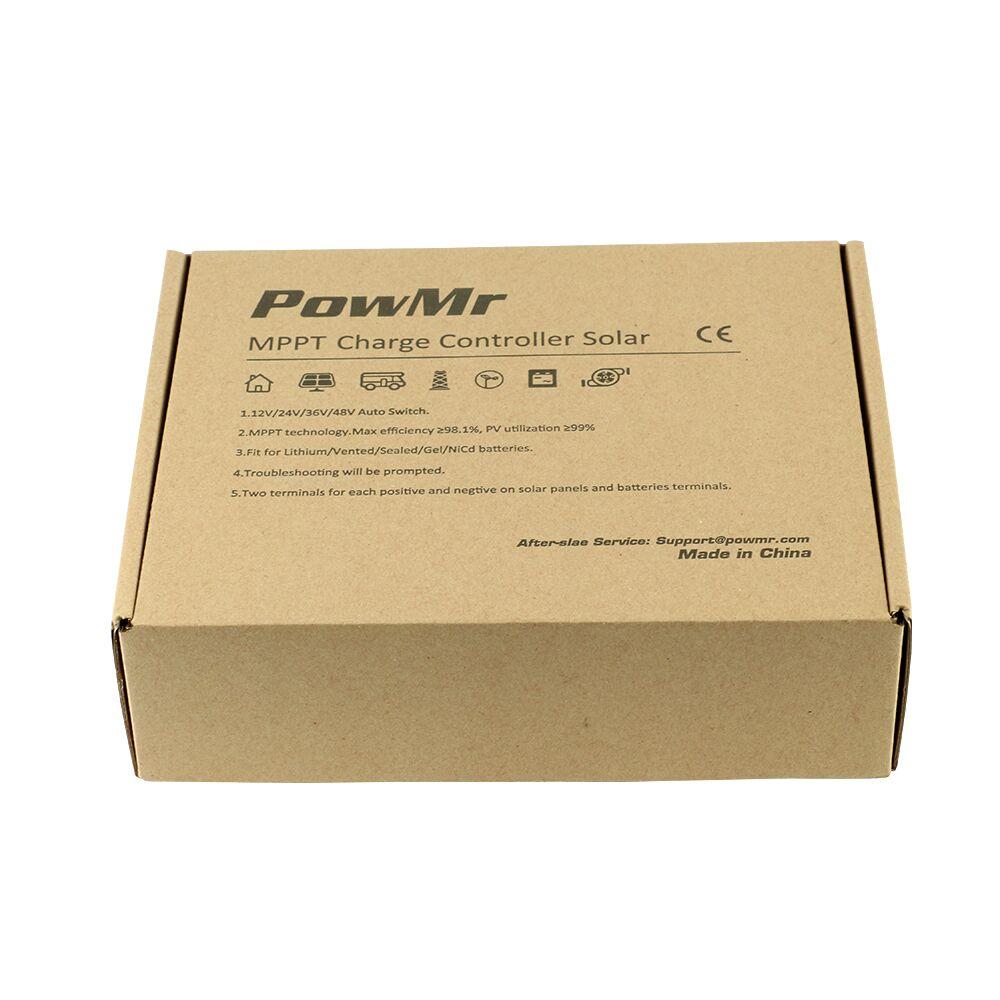 MPPT 50A Solar Battery Charge Controller 12V 24V 36V 48V Auto Solar Charger Regulator LCD Display for Max 190VDC PV Input NEW