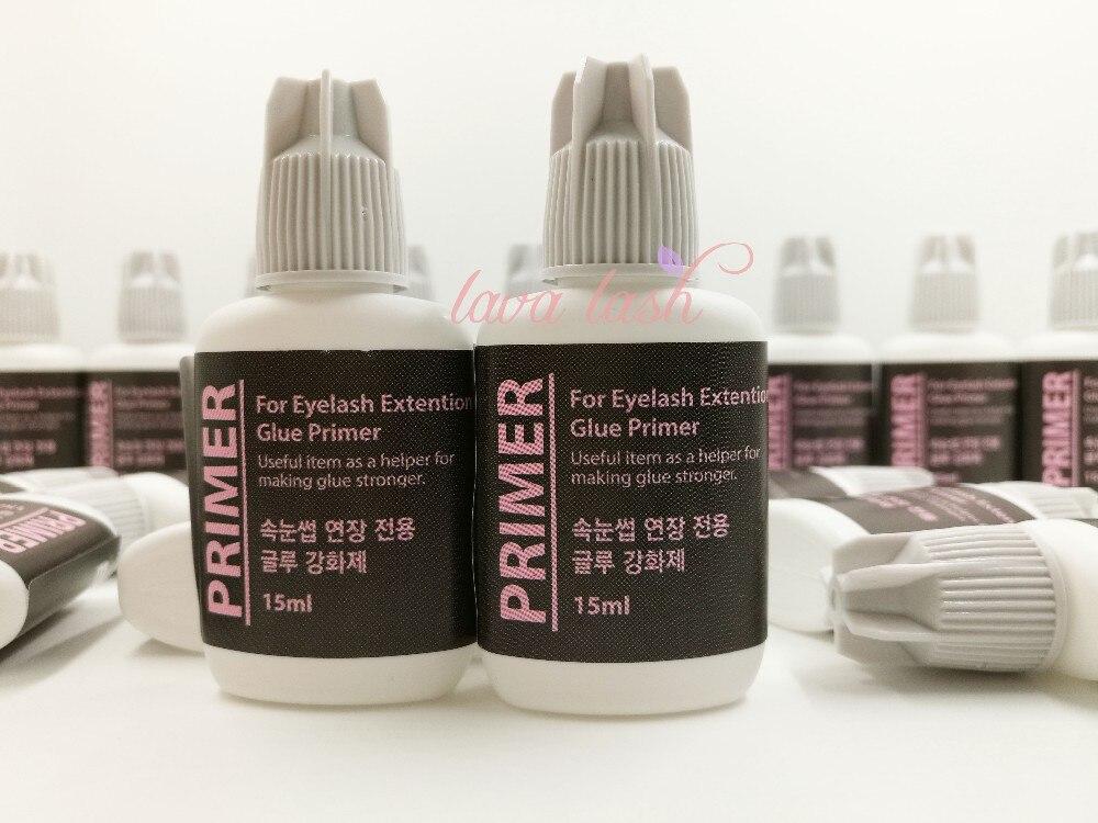 Free shipping Korea eyelash extension glue primer 15ml/bottle 10 bottle/lot keep lashes stay longer make glue stronger 15ml/lot-in Eyelash Glue from Beauty & Health    1
