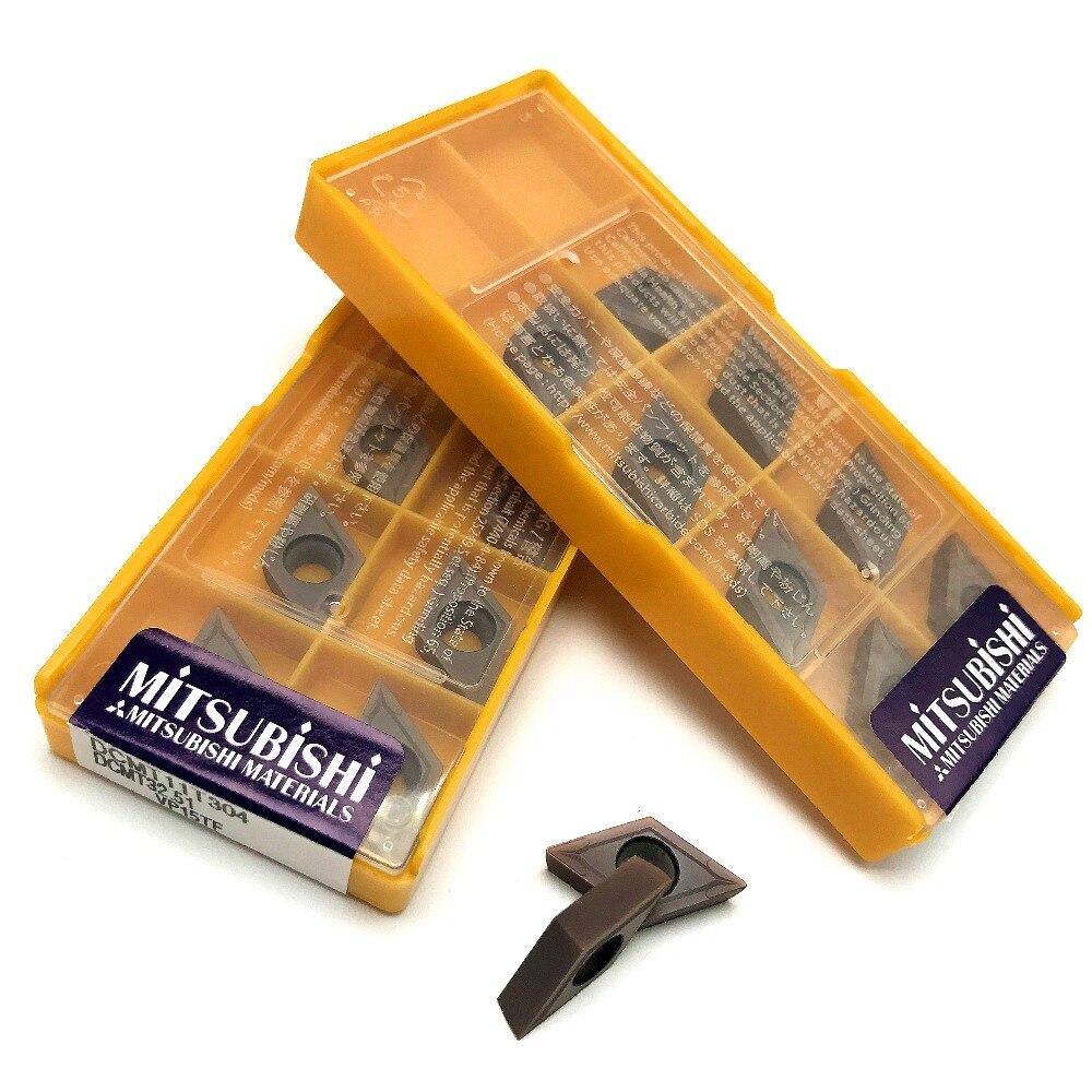 10 pcs MITSUBISHI Carbide inserts DCMT 32.52 DCMT 11T308 Grade US735
