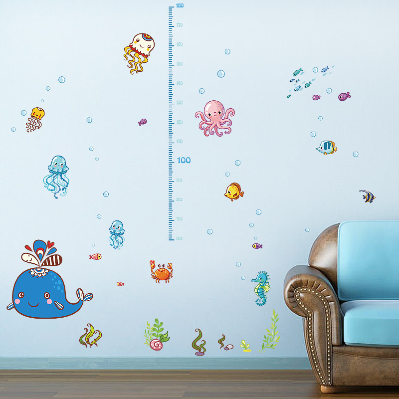 % Diy Growth Chart Height Measure Wall Sticker Home Decal Finding Nemo  Cartoon Sea Fish Underwater World Kids Room Nursery Decor In Wall Stickers  From Home ... Part 36