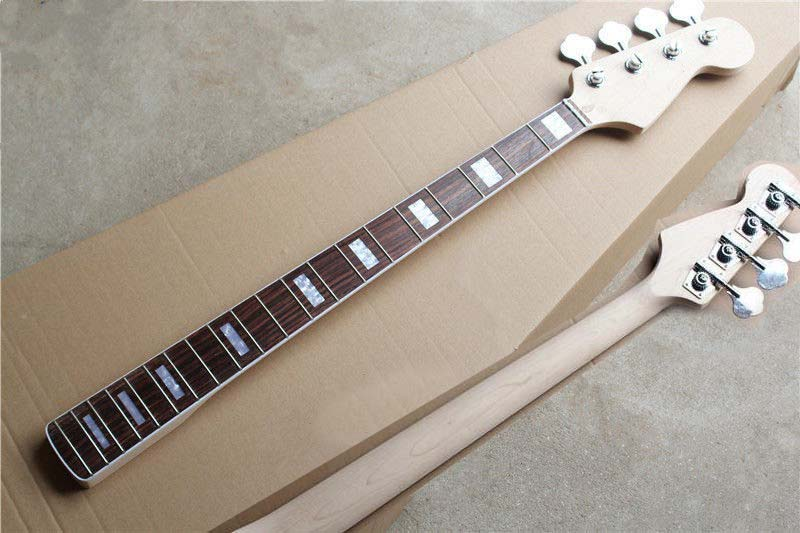 Ambitious Maple Wood 20 Fret For Electric Bass Neck And Tuners With Rosewood Fingerboard Guitar Parts & Accessories