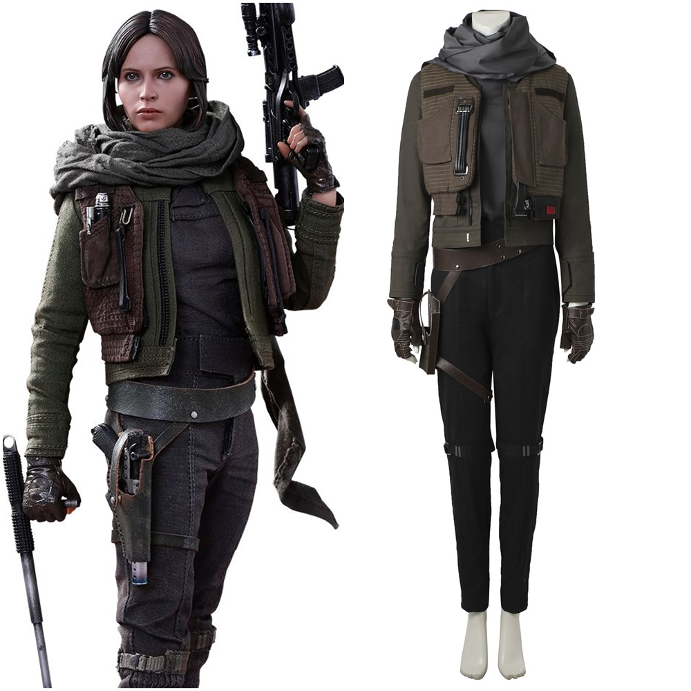 Rogue One Star Wars Jyn Erso Cosplay Costume Women's Halloween Outfit