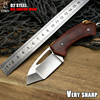 LCM66 D2 Steel Folding Knife Red Shadow Wood Survival Knives Very Sharp Mini Rescue Pocket Knife