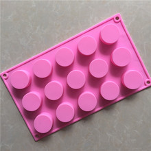 Small cylindrical silicone chocolate mold Hand Soap Making Round Silicone Molds