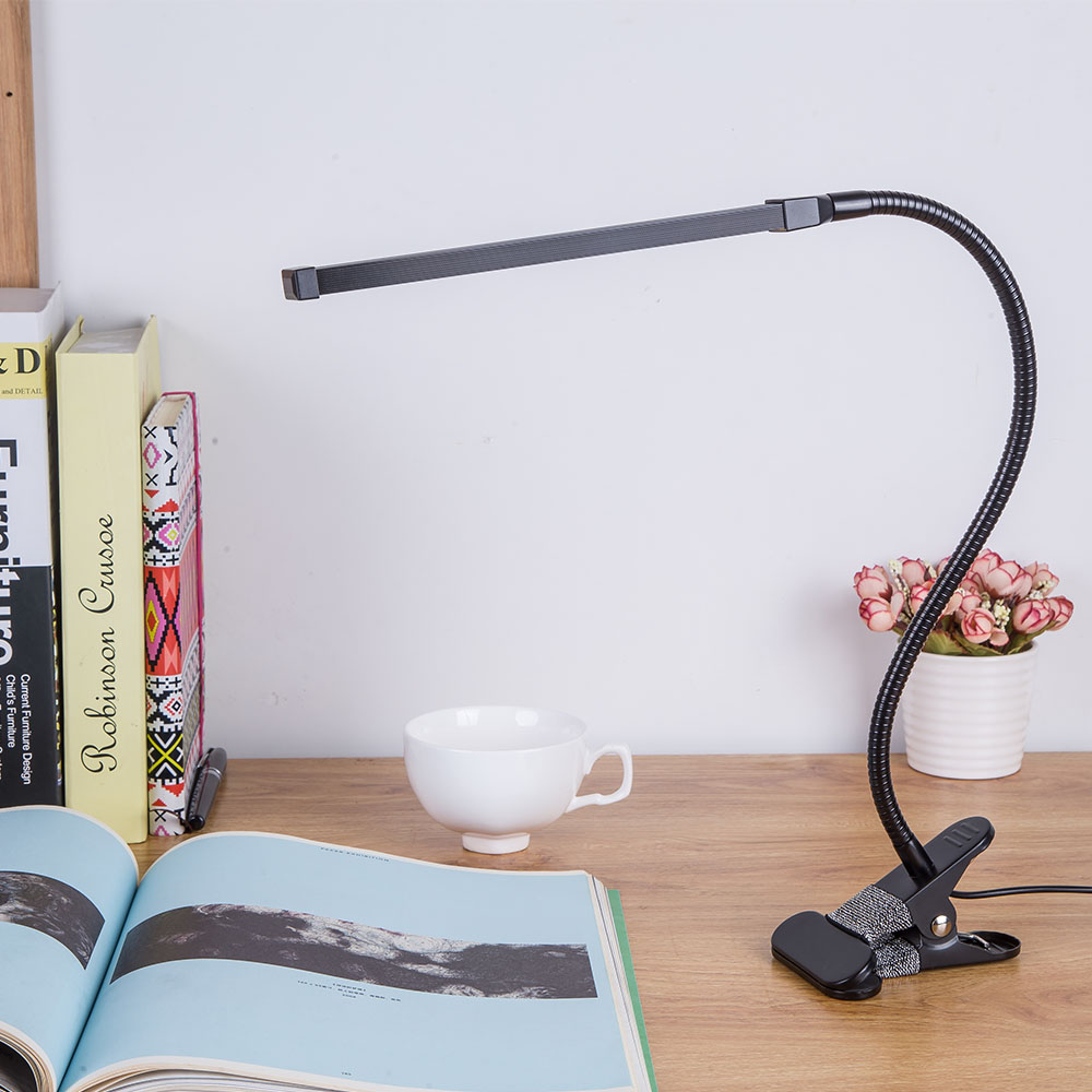 Clip On Bed Lamp Us 20 09 35 Off Brightest 6w Usb Led Light Clip On Flexible Reading Bed Lamp Table Desk Lamp Book Desktop Bed Lamp Lighting Bedside Lighting In Book