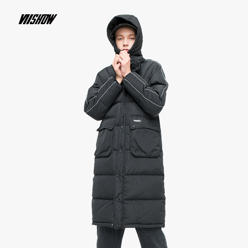 VIISHOW Grey Duck Men's   Down   Jacket Brand Winter Jacket For Men Doudoune Homme 2018 Solid Men's Winter Jacket   Coat   YC2230184