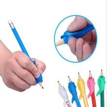 10pcs/Bag Dolphin Fish Writing Posture Orthosis Stationery Set Writing Pen Holder Children