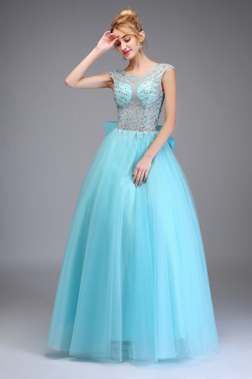 Ssyfashion 2018 New High End Evening Dress Luxury Crystal Beading