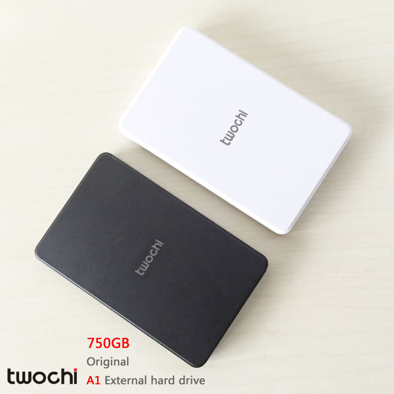 ФОТО Free shipping 2016 New Style 2.5 inch Twochi A1 USB2.0 HDD 750GB Slim External hard drive Portable Storage disk wholesale Price