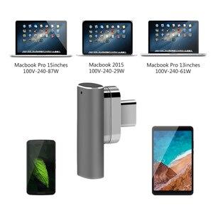 Image 4 - Magnetische Typ USB C Adapter, Unterstützung PD Ladegerät und Daten Transmision (10Gbp/s), USB3.1 Typ C Power Lieferung Schnell Ladung PD100W
