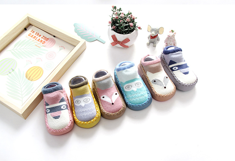 1 Pair Newborn Warm Socks Baby Boy Girl Cartoon Floor Shoes Sock Toddler Infant Newborn Indoor Comfy Cotton Anti Slip Boots Sock