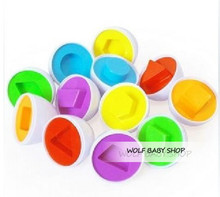 Paired Twisted Egg Identify Color & Shape for Toddlers & Kids – Educational Toy