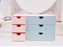 Student dormitory storage box, small fresh multi-function desktop jewelry storage box, drawer type stationery cosmetics storage