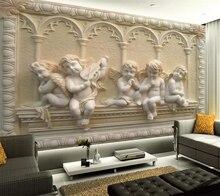 цены beibehang Custom Photo Wallpaper 3D European Stereo Relief Mural Living Room Backdrop Design papel de parede 3d wallpaper behang