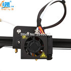Creality 3D cr10 Full Assembled Extruder Kits With 2pcs Fan Cover Air Connections Nozzle for MK10 hotend CR-10 3D Printer Parts