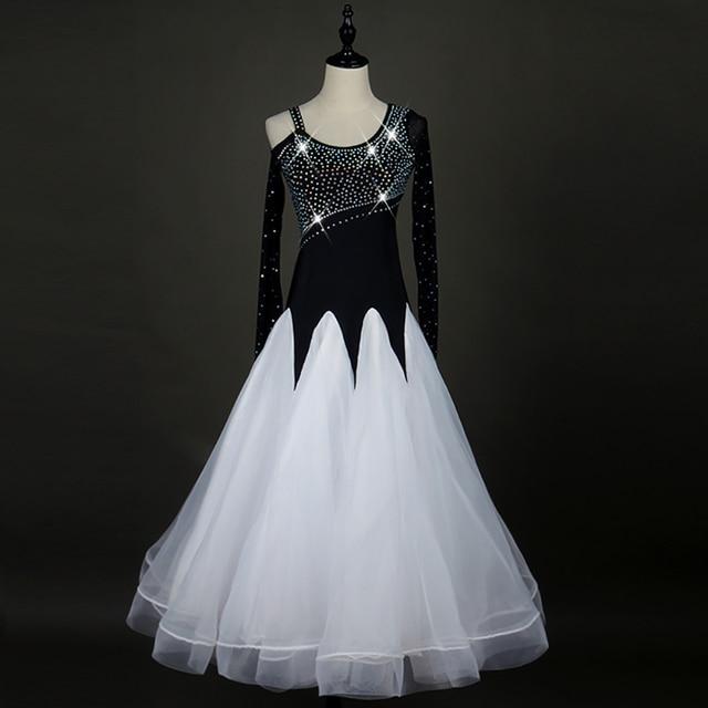 25a5cda3b400 New Arrival Latin Dancing Dress For Ladies Black Color Lace Rehearsal  Skirts Fitness Woman Finger Flamenco Ballroom Dress Q11083