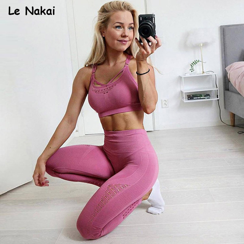 1f6e0e377b5b US $21.91 30% OFF|2 PCS Energy seamless yoga set workout clothes for women  fitness gym clothing active wear gym suit scrunch butt leggings-in Yoga ...