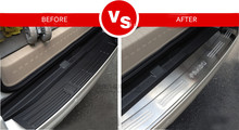 Stainless Steel Rear Bumper Door Sill Plate Scuff For Toyota Land Cruiser Prado 2010-2014