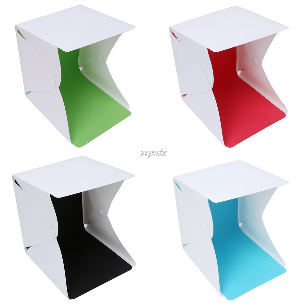 Foldable Lightbox Portable Light Room Photo Studio Photography Backdrop Mini Box Lighting Tent Kit+ 4 Backdrops +1Carry Bag