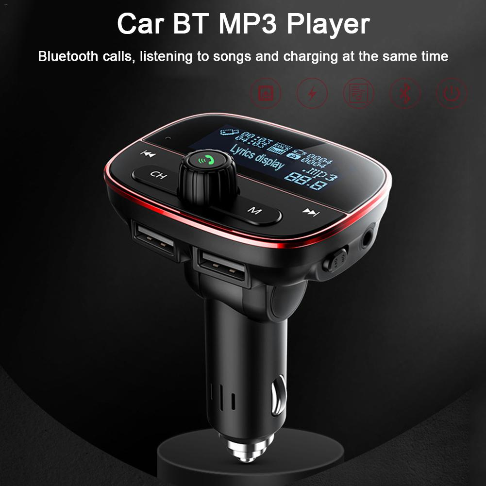 Bluetooth Car MP3 Player FM Transmitter Audio Adapter <font><b>Receiver</b></font> Wireless Hands-free Voltmeter Car Kit <font><b>USB</b></font> Audio Adapter image