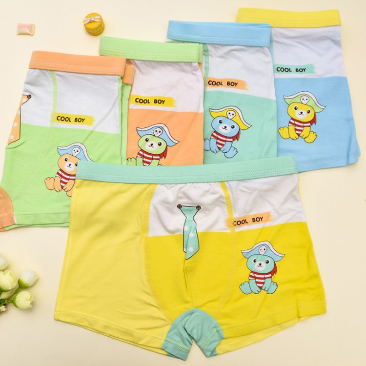 New Arrived 5Pcs Lot Girl Panties Bear Printed underwear Cartoon Briefs Cotton Lingerie Soft Comfortable Panty Wholesale