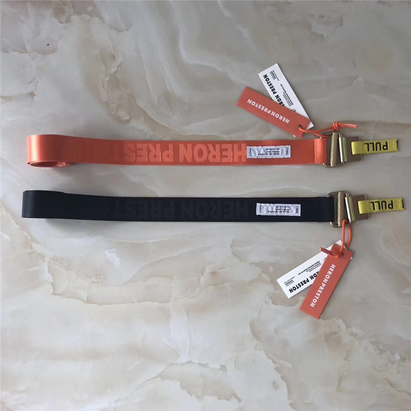 Heron Preston Belt Best Quality Blue Orange Heron Preston Tactical Belt Hip Hop Heron Preston Belt