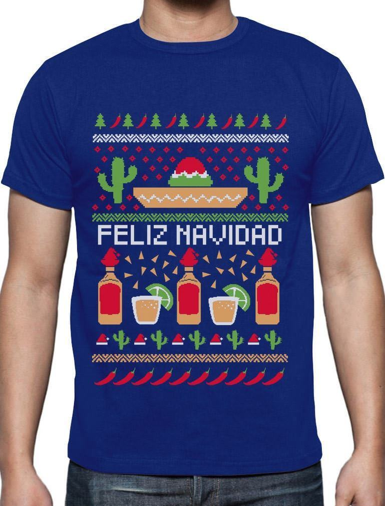 Mexican Ugly Christmas Sweater Funny Xmas T-Shirt Gift Idea Harajuku Cool T shirt Homme ...