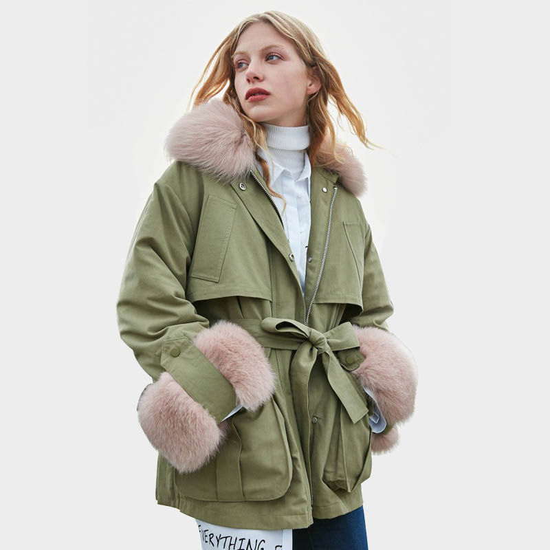 Winter Jacket Women Real Fur 2019 Brand Female Goose Down Parkas Real Fox Fur Down Parka Female Winter Coat Women Snow Outwear