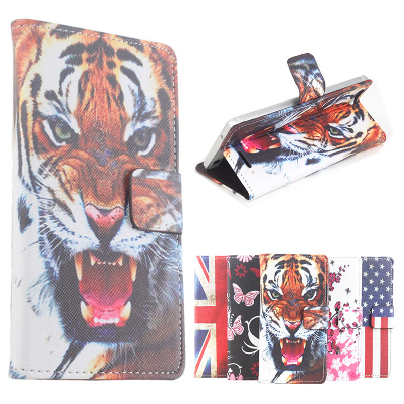 100% High Quality Leather Cases Painted For iNew U5 Case Flip Covers For iNew U5 5.0inch Cellphone Cover Phone Case