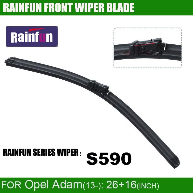 RAINFUN S590 26+16 INCH dedicated car wiper blade forOpel Adam(13-) , windscreen auto