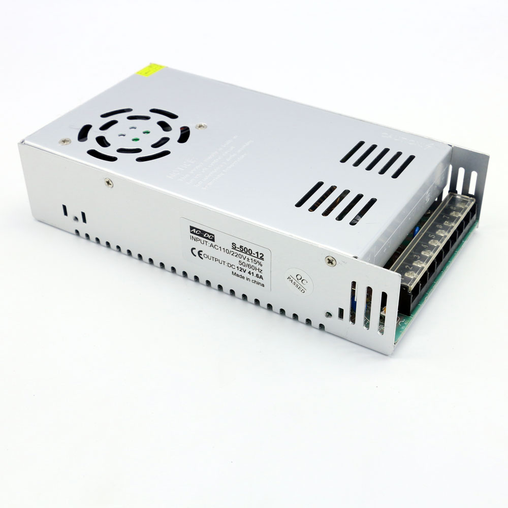 Led Power Supply Adapter 500W Constant Voltage 12V for Led Light Strip Display