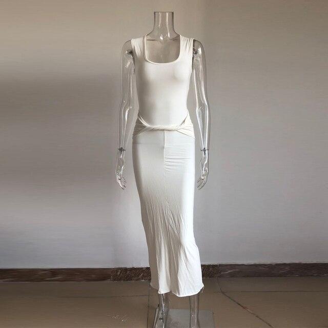 Kim kardashian dress Fashion model wear maxi long cotton 6