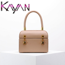 2019 Hot Style Box Bag Real Leather Women Lock Handbag Designer Vintage for Female