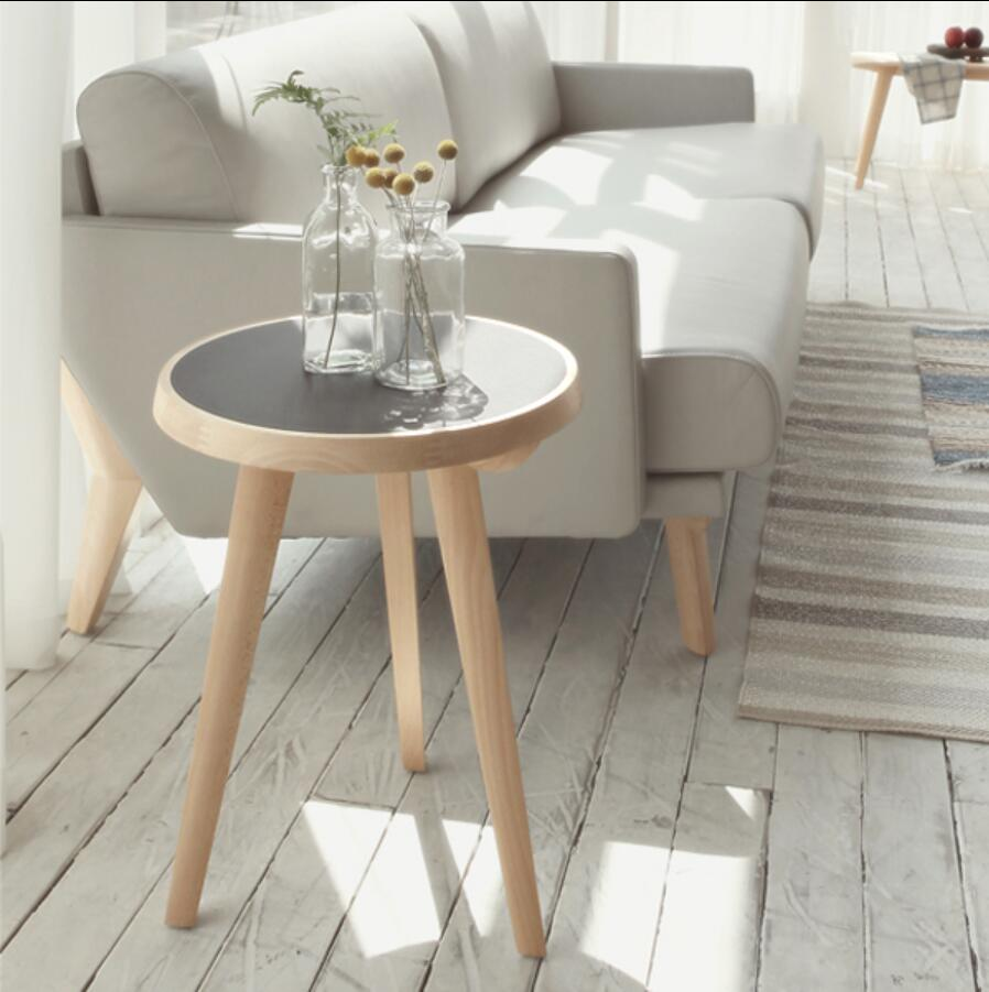 Designers Nordic sofa side a few corner a few round tables living room coffee table small side table minimalist toughened glass phone corner sofa a few little sitting room tea table