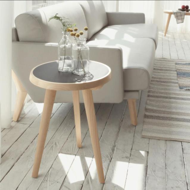 side tables living room ideas with dark blue sofa designers nordic a few corner round coffee table small minimalist